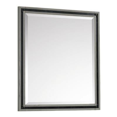 Dexter 25 in. W x 34 in. H Framed Rectangular Bathroom Vanity Mirror in Rustic Gray finish