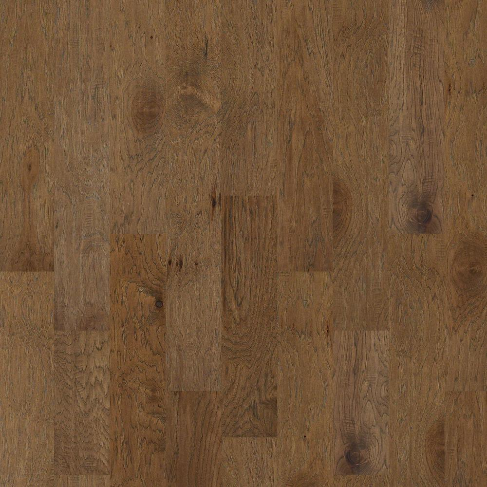 Shaw Western Hickory Winter Grey 3 8 In Thick X 5 In Wide X Random Length Engineered Hardwood