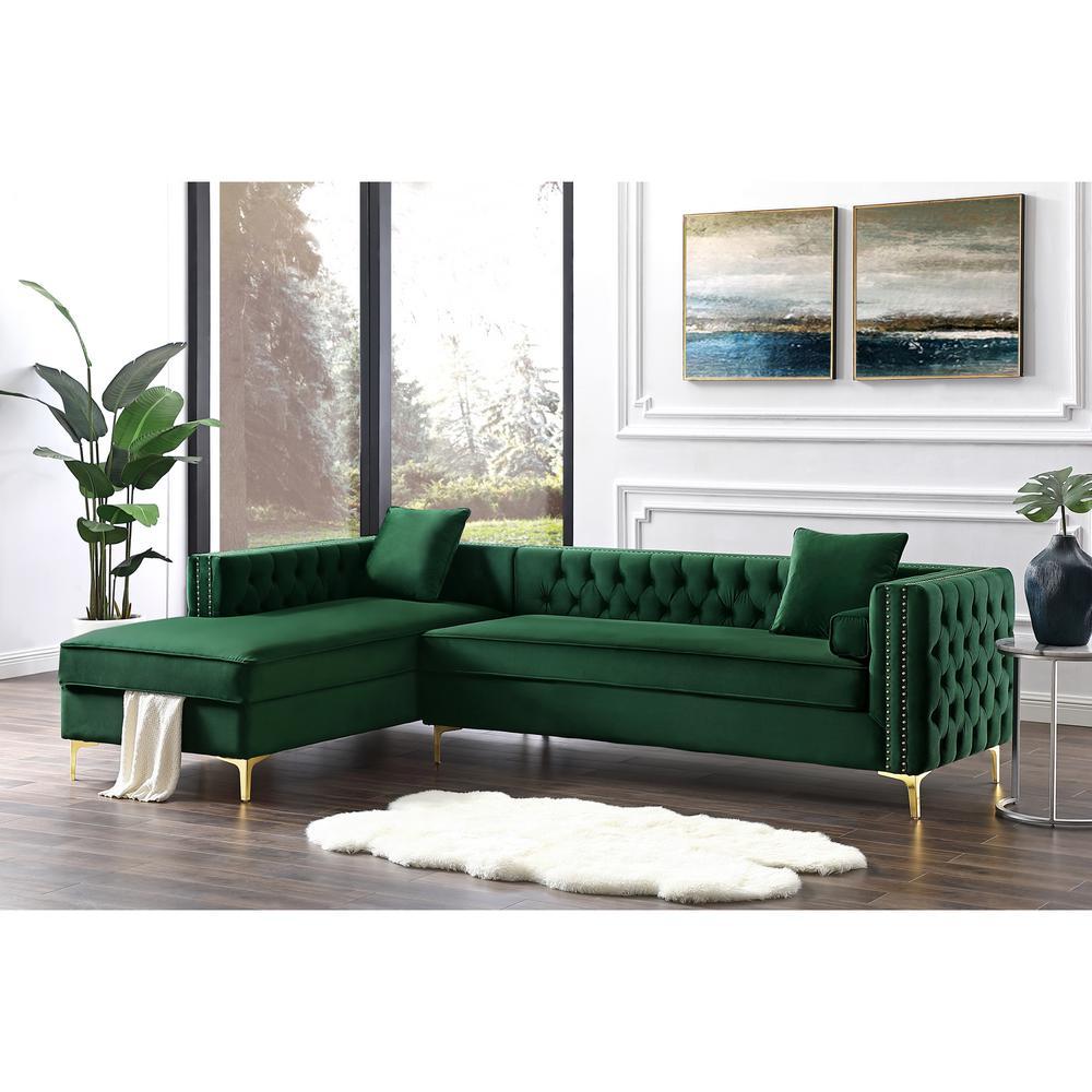 inspired home olivia hunter greensilvergold velvet 4