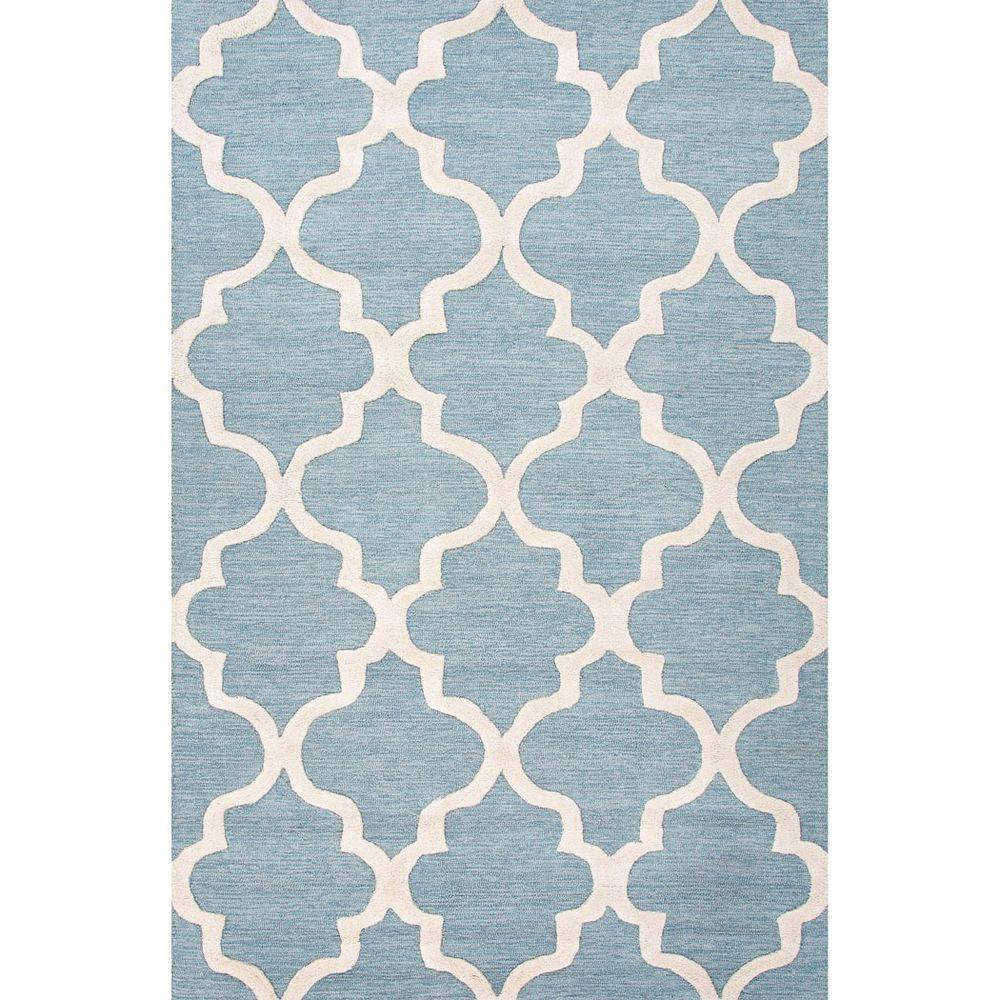 Home Decorators Collection Gwendolyn Blue Shadow 8 ft. x 11 ft. Geometric Area Rug