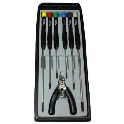 Electronics Screwdriver Set with Cutter (7-Piece)
