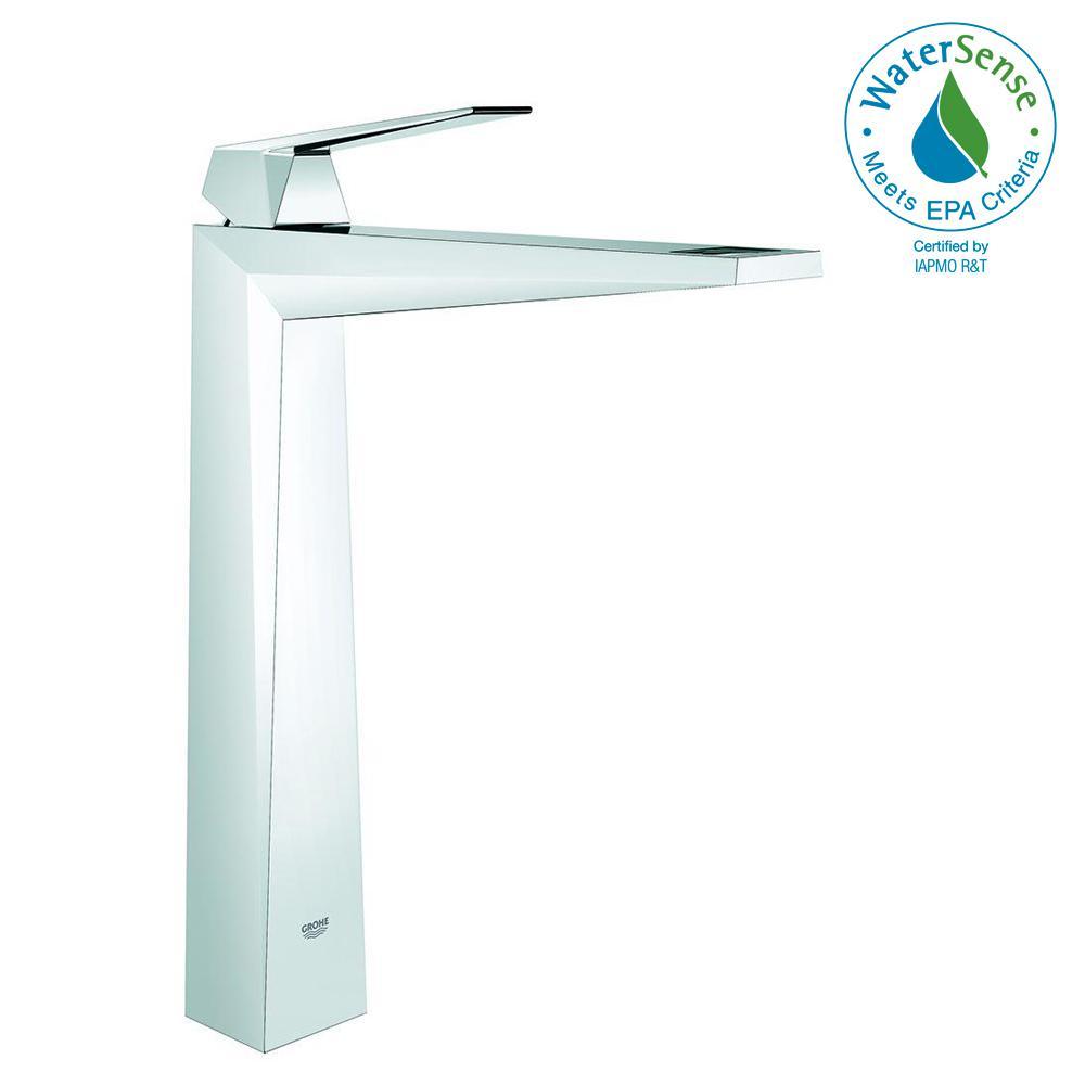 Allure Brilliant Single Hole Single Handle Vessel Bathroom Faucet in StarLight Chrome