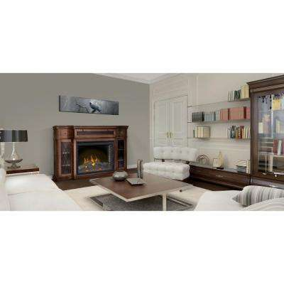 The Colbert 33 in. Media Package Electric Fireplace in Antique Mahogany (2-Cartons)
