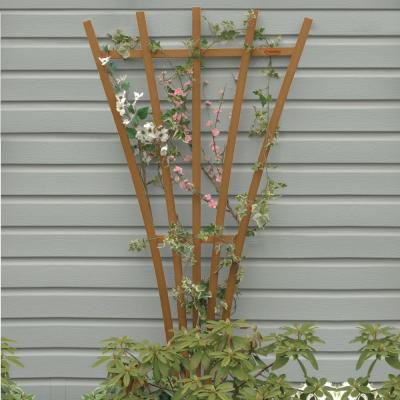 Toffee Recycled Plastic Hartford Fan Trellis