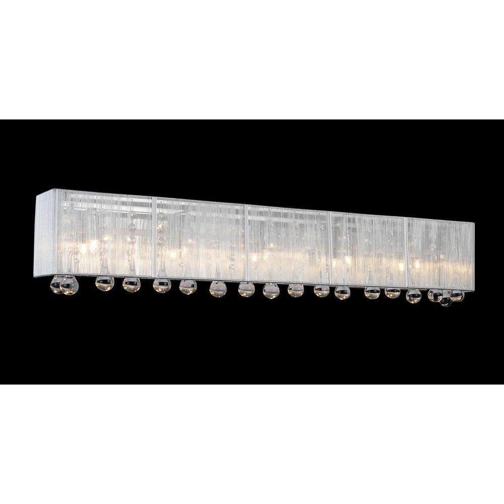 Water Drop 5-Light Chrome Sconce