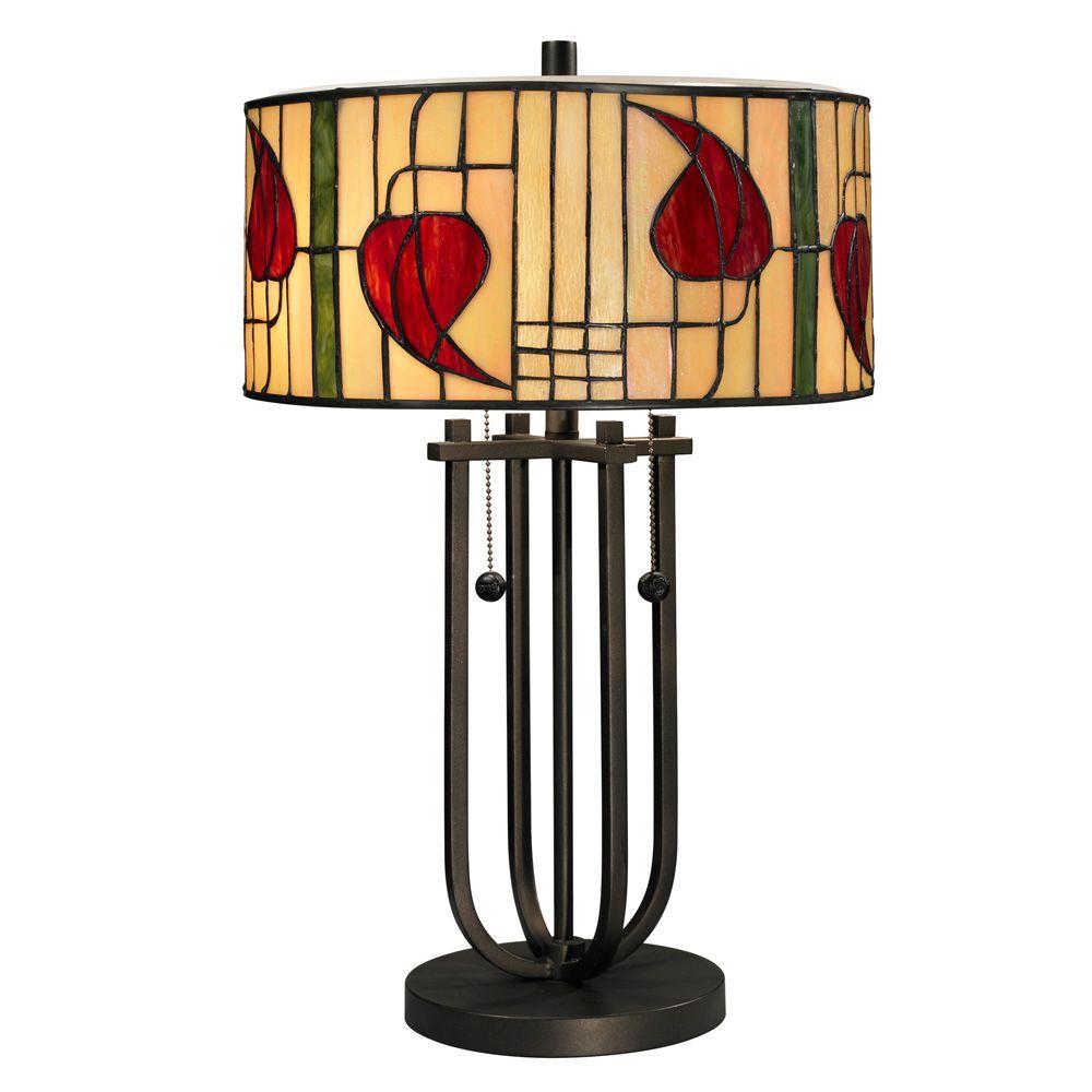 Dale Tiffany 22.5 in. Macintosh Dark Bronze Table Lamp