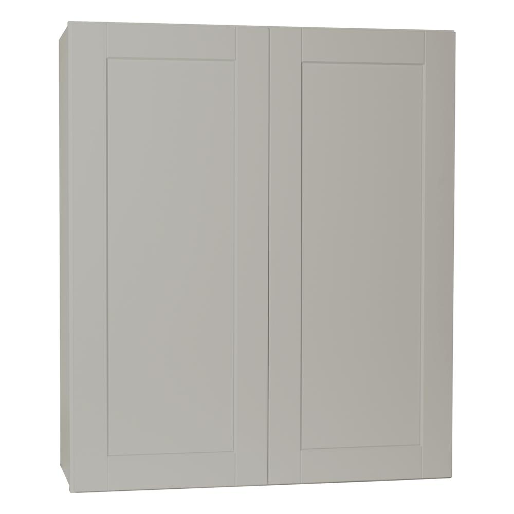 Hampton bay shaker assembled 36x42x12 in wall kitchen for Assembled kitchen units