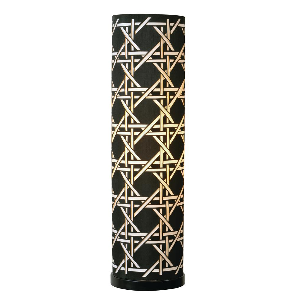 Xavier 28 in. Black Table Lamp with White Shade