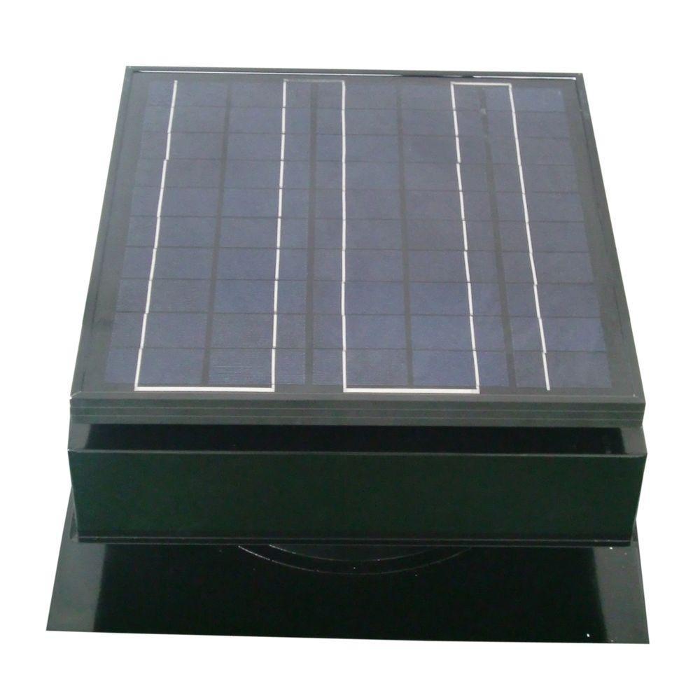 Remington Solar 30-Watt 1550 CFM Black Solar Powered Attic Fan