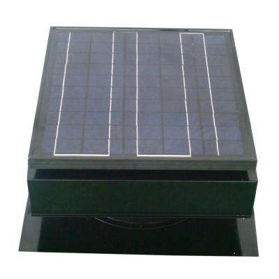30-Watt 1550 CFM Black Solar Powered Attic Fan