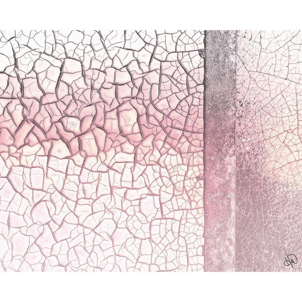 """16 in. x 20 in. """"Pink Fading Rust"""" Acrylic Wall Art Print"""