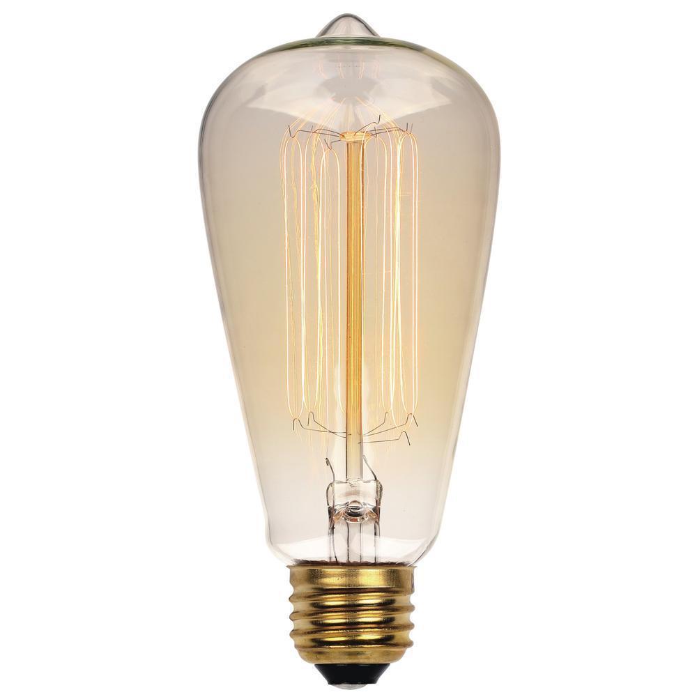 westinghouse 60 watt timeless vintage inspired incandescent st20 light bulb 0413200 the home depot. Black Bedroom Furniture Sets. Home Design Ideas