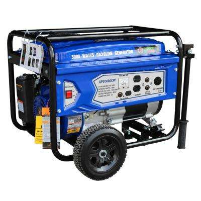 Green Power 5000/3850-Watt Gas Powered Recoil Start Portable Generator with 223 cc 7.5 HP LCT Engine, CARB Approved