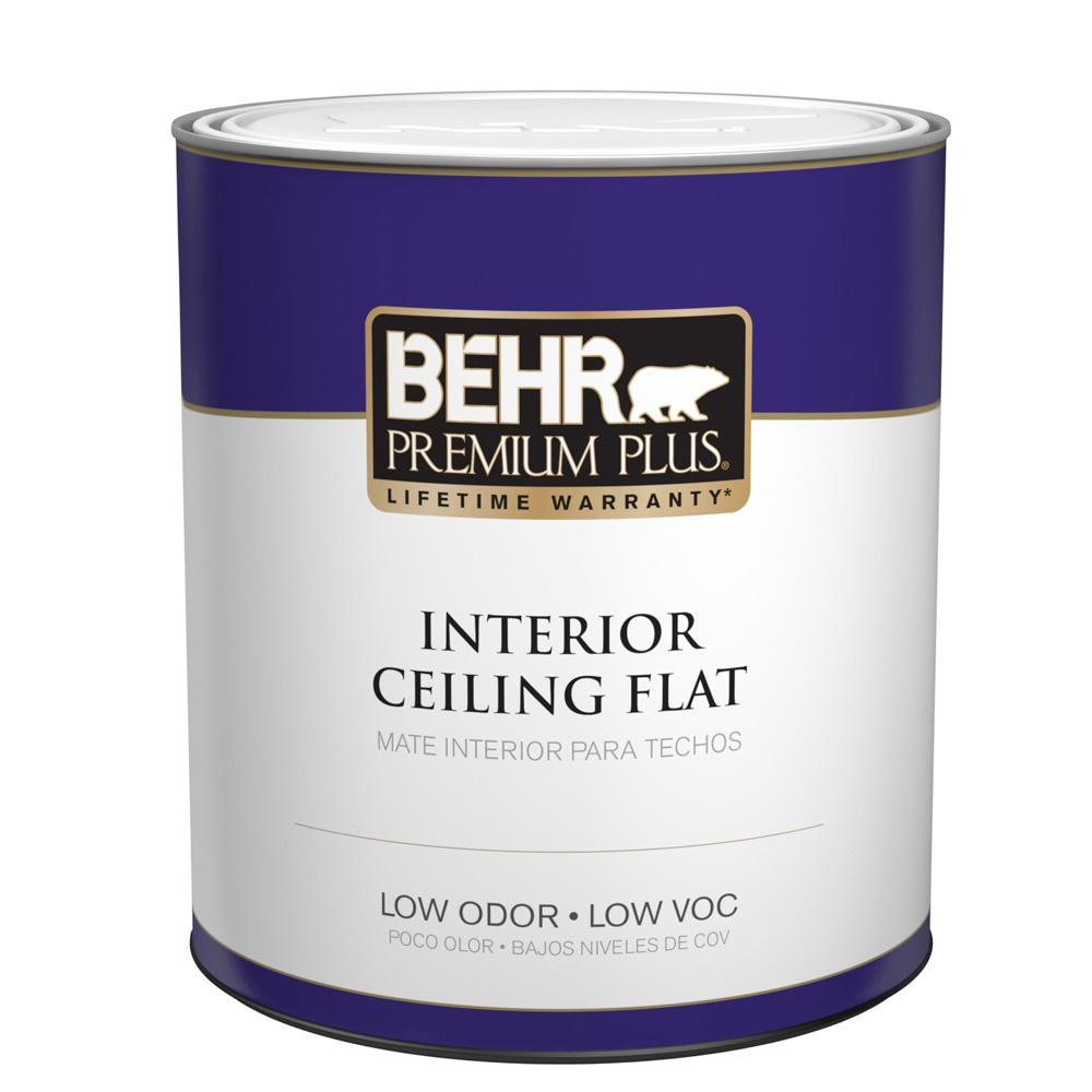 BEHR Premium Plus 1 Qt. Flat Interior Ceiling Paint 55804   The Home Depot