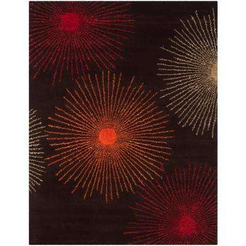 Soho Brown/Multi Wool 8 ft. x 10 ft. Area Rug