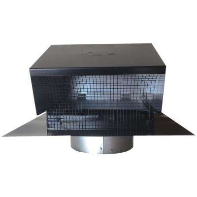 Black Metal Roof Vent Cap 6 in. Collar