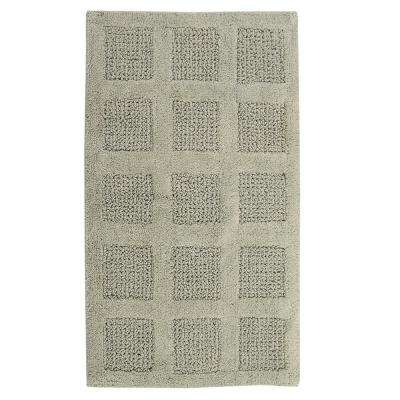 Square Honeycomb 17 in. x 24 in. Reversible Bath Rug