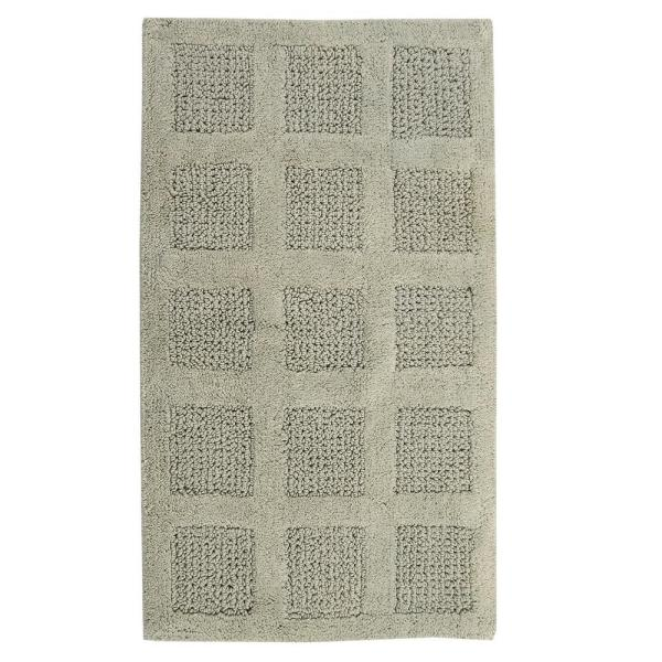 PERTHSHIRE Square Honeycomb 17 in. x 24 in. Reversible Bath Rug