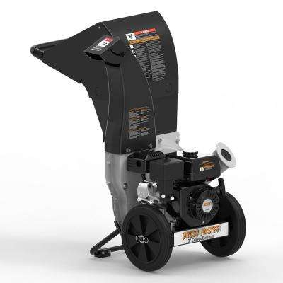 3 in. 11 HP 270cc Gas Powered Self Feed Chipper Shredder with Unique Innovation 3-in-1 Discharge, Gloves, Safety Goggles