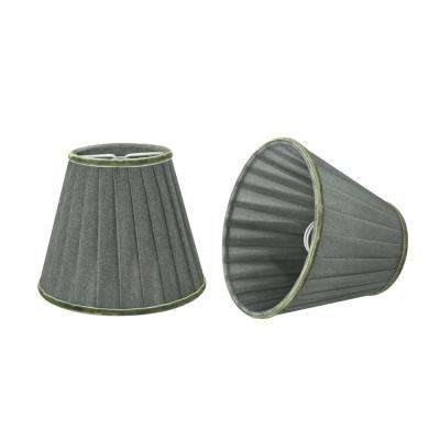 5 in. x 4-1/4 in. Dark Grey Pleated Empire Lamp Shade (2-Pack)