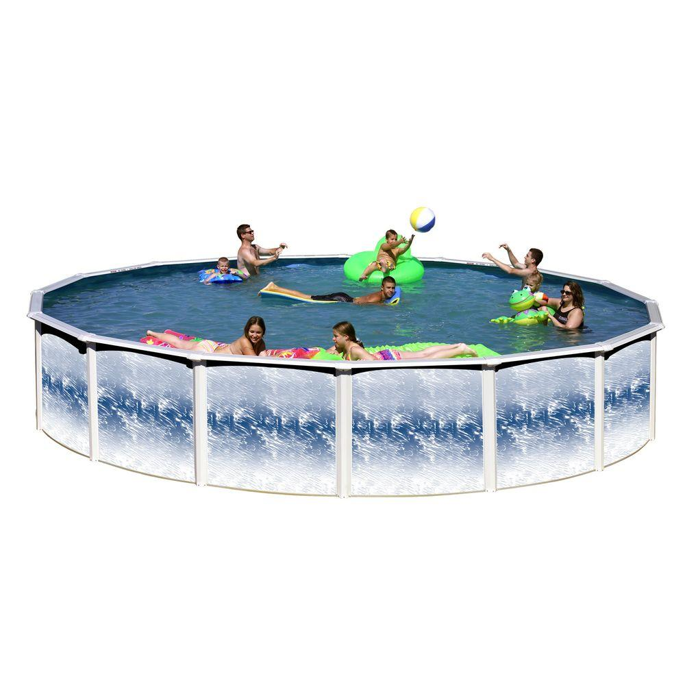 Heritage pools yosemite 24 ft x 52 in round pool package - Above ground swimming pool rental ...