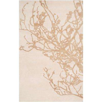 Candice Olson Peach Cream 8 ft. x 11 ft. Area Rug