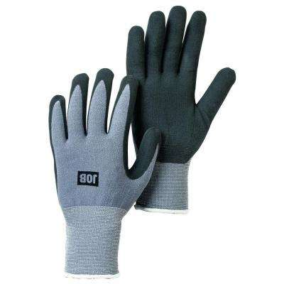 Medium Size 8 Black Nitrile-Dipped Work Gloves