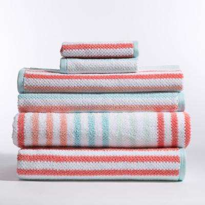 Stripes 6-Piece Bath Towel in Jay