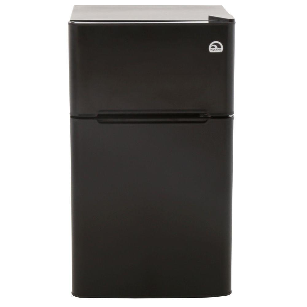 IGLOO 3.2 cu. ft. Mini Refrigerator in Black, 2 Door