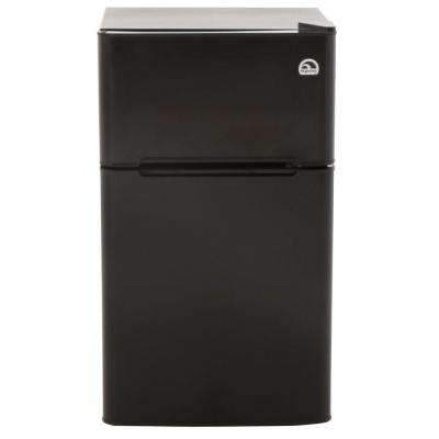 3.2 cu. ft. Mini Refrigerator in Black, 2 Door