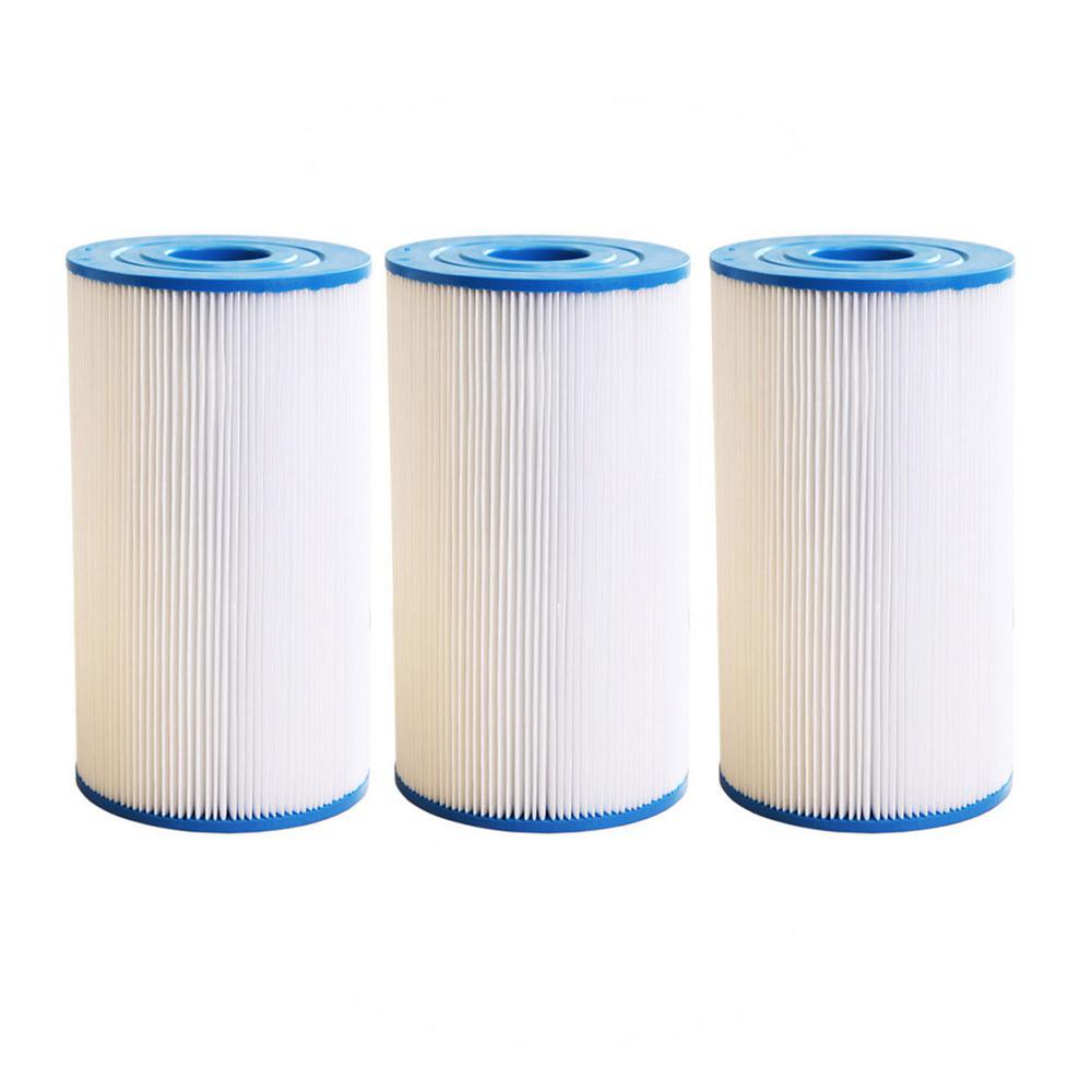 30 sq. ft. Spa Filter Cartridge for Watkins 31489, Pleatco PWK30, Filbur FC-3915, Unicel C-6430(3-Pack)