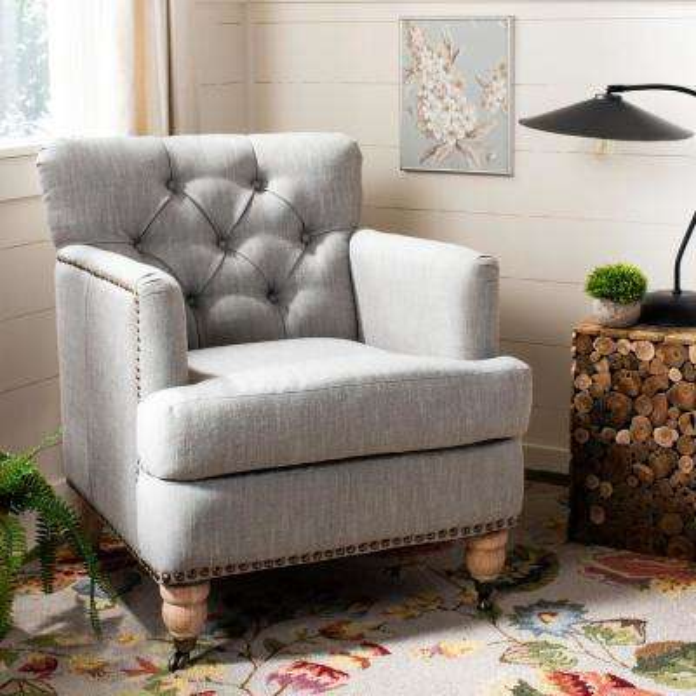 Colin Stone Linen Arm Chair