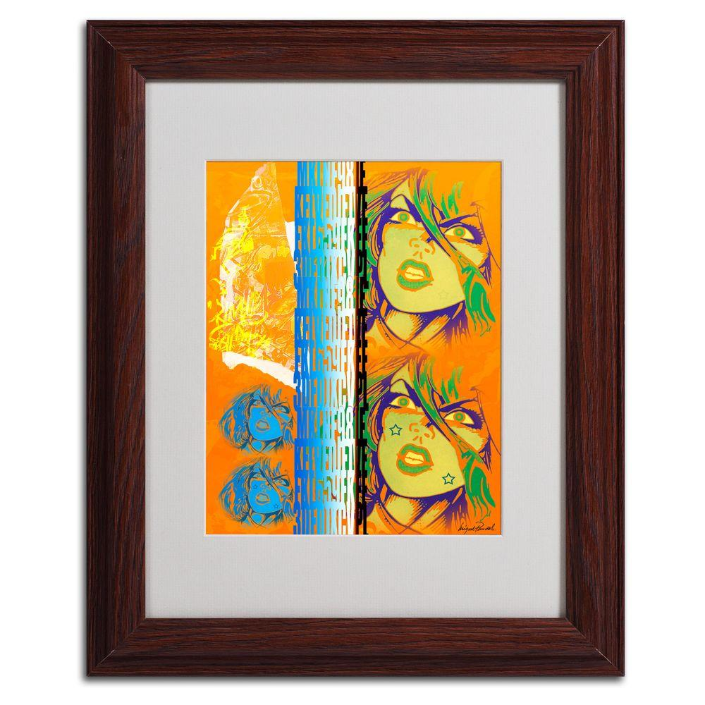 null 11 in. x 14 in. Crime in Orange Matted Framed Art