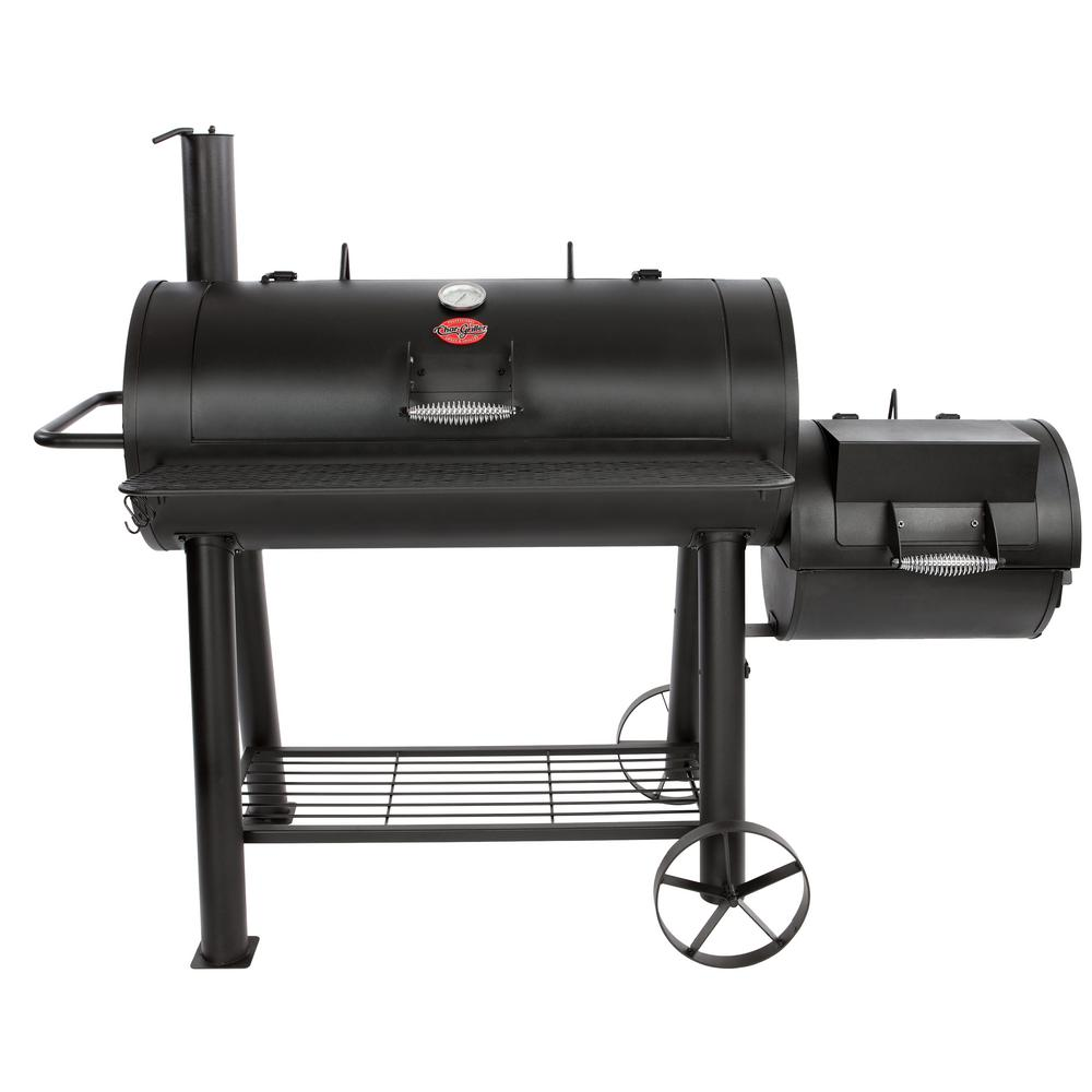 Compeion Pro Offset Charcoal Or Wood Smoker In