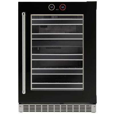 Silhouette Reserve Series 37 Bottle Built-in Wine Cooler in Black