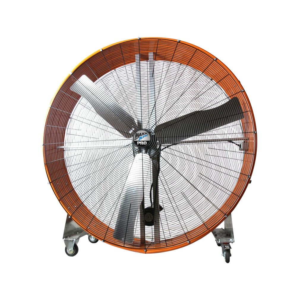 Product Industrial Fans : Maxxair pro in speed drum fan with steel casters