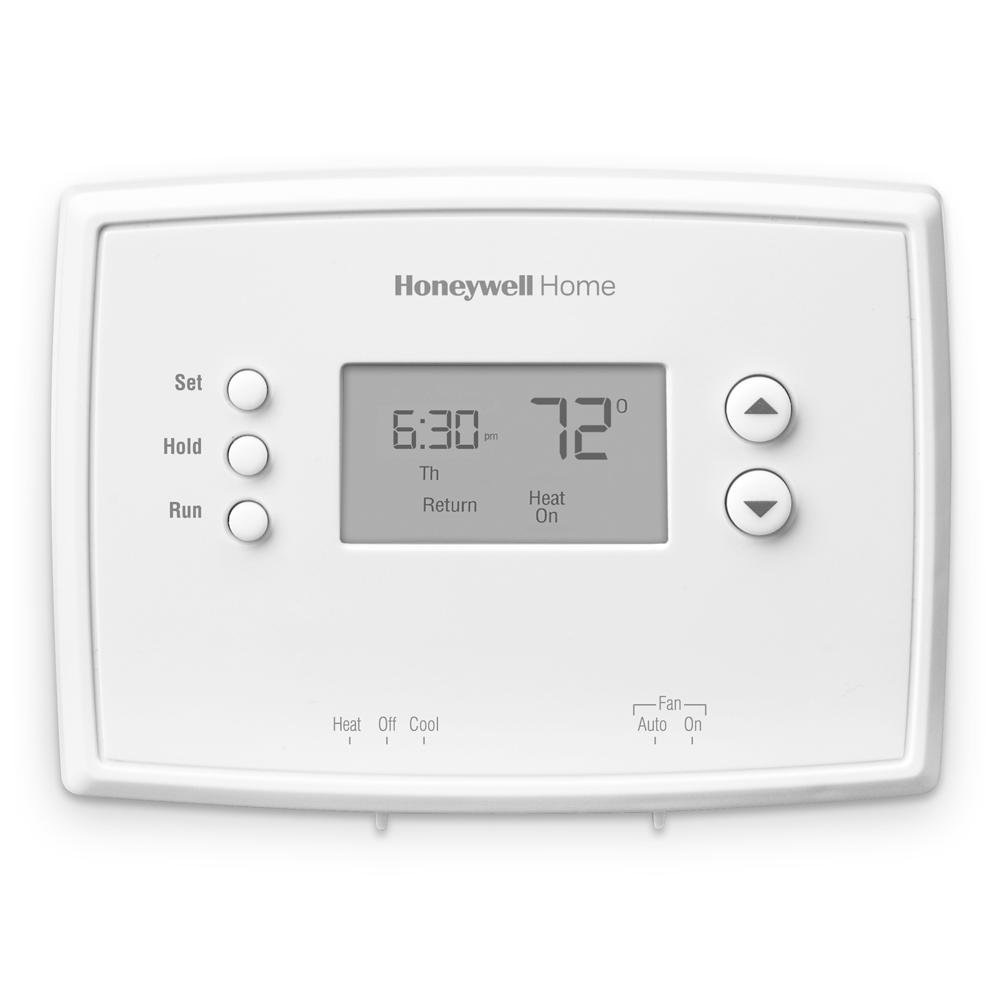 Honeywell Home 1 Week Programmable Thermostat With Digital Display Rth221b The Home Depot