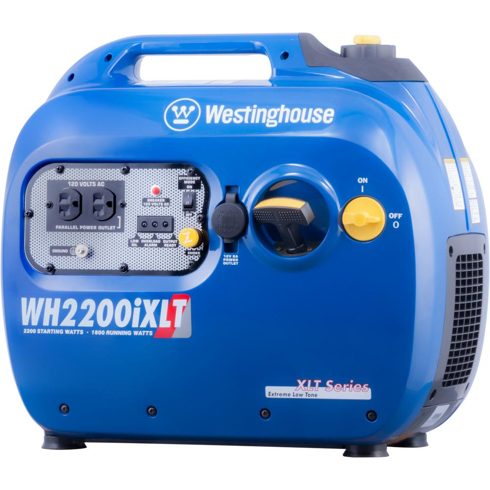Westinghouse WH2200 2,200/1,800-Watt Gas Powered Portable Inverter Generator with Parallel Capabilities and Enhanced Fuel Efficiency