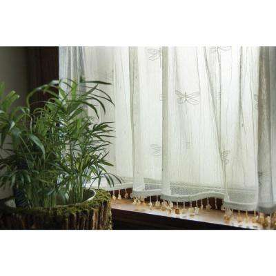 Dragonfly 45 in. L Polyester Valance in White