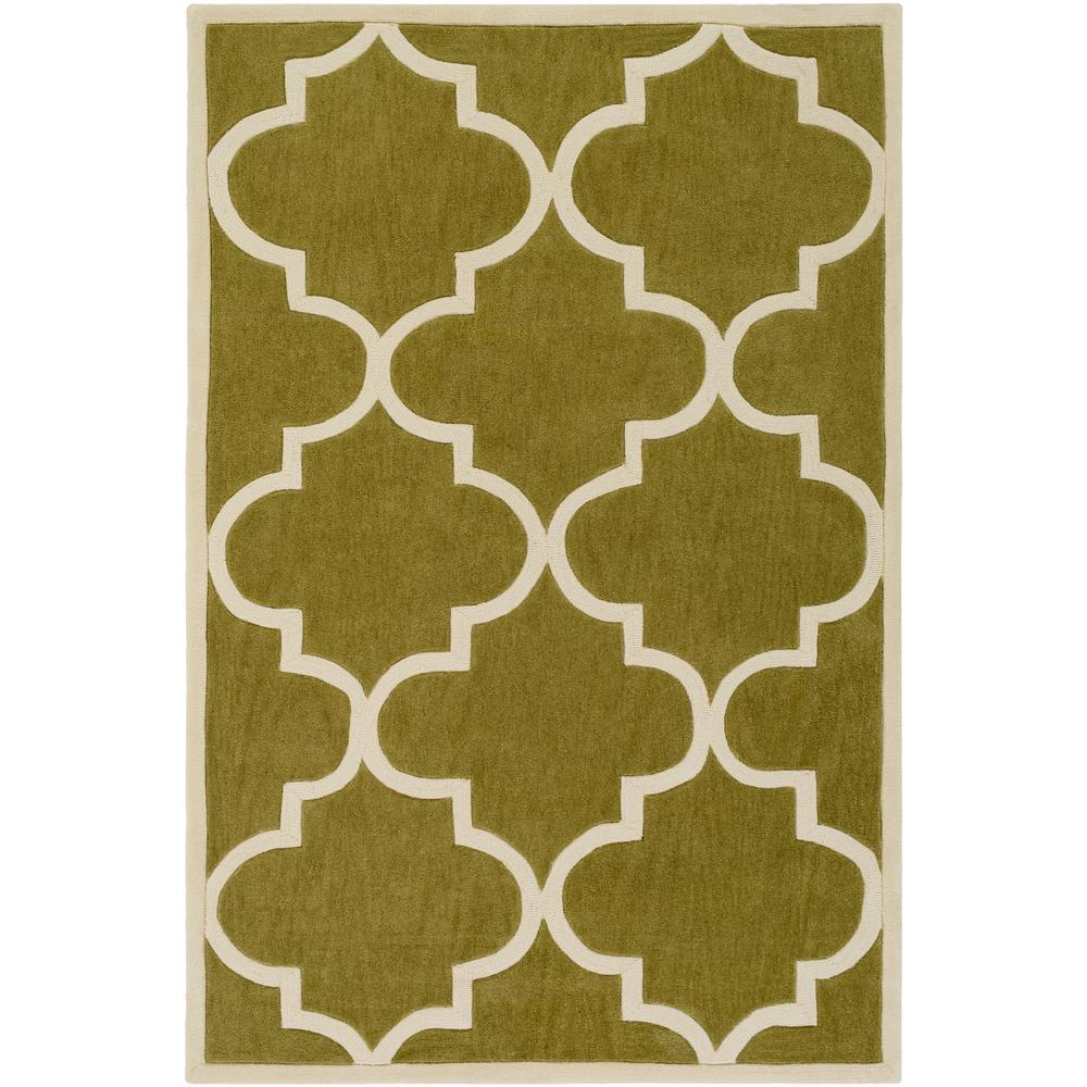 Santorini Nora Olive Green 4 ft. x 6 ft. Indoor Area