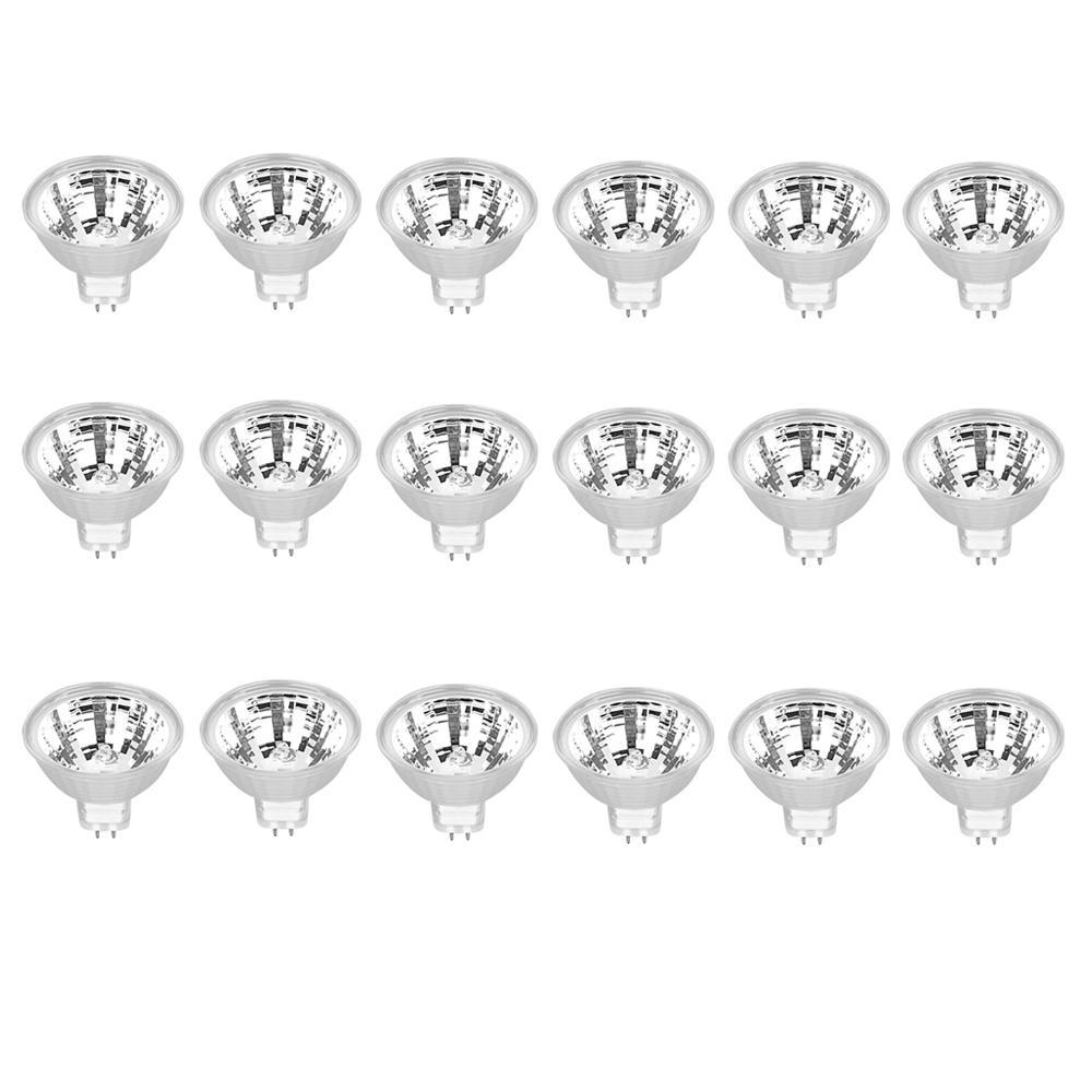 50-Watt MR16 GU5.3 12-Volt Bi-Pin Base Dimmable Halogen Light Bulb Bright White (3000K) (18-Pack)