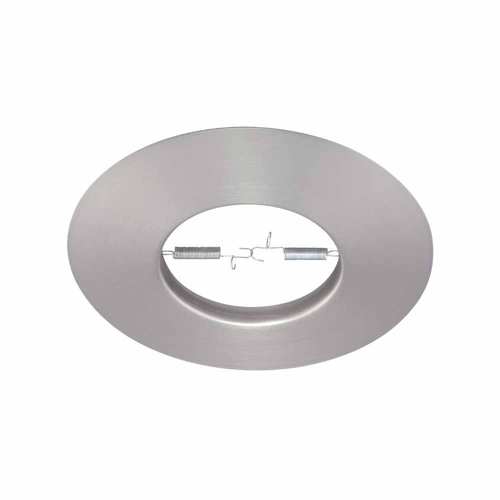 Commercial Electric 6 in. R30 Brushed Nickel Recessed Open Trim (12-Pack)