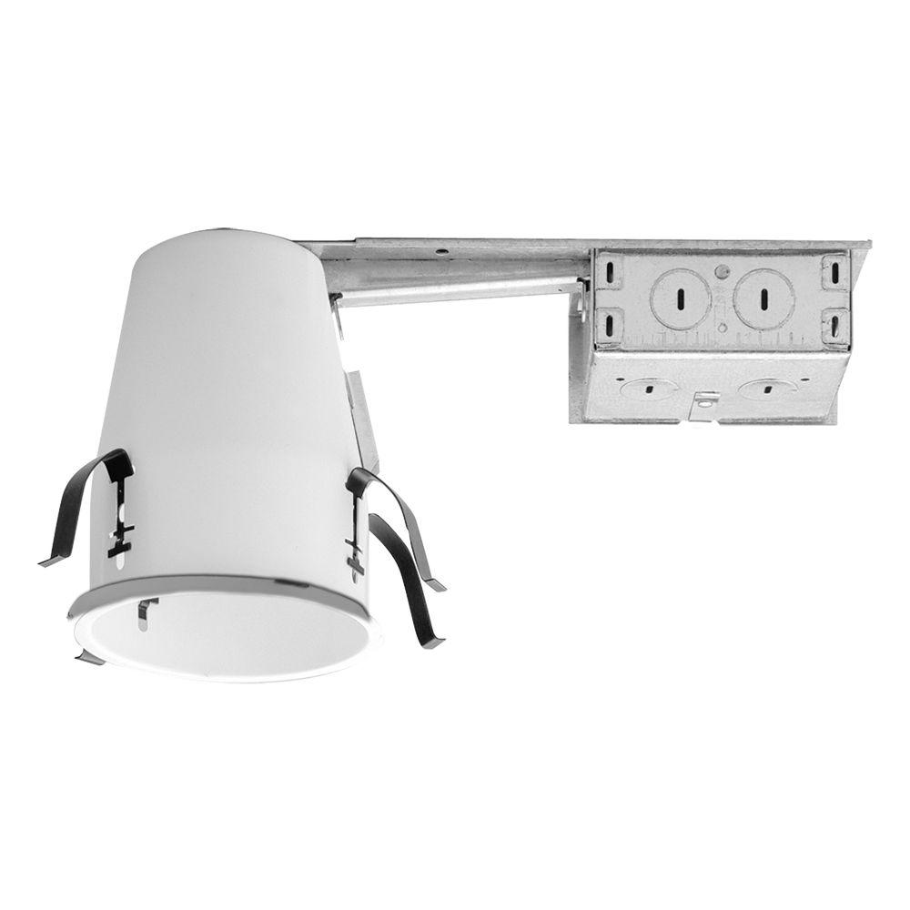 H99 4 in. Steel Recessed Lighting Housing for Remodel Ceiling, No