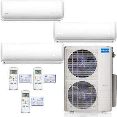 Olympus 48,000 BTU 4 Ton 3-Zone Ductless Mini Split Air Conditioner and Heat Pump, 25 ft. Install Kit - 230V/60Hz