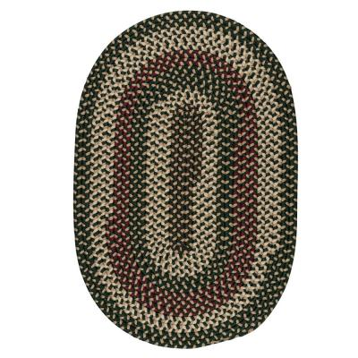 Brook Farm Winter Green 8 ft. x 11 ft. Oval Braided Area Rug