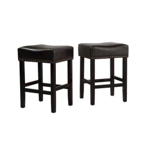 Astounding Noble House Lisette 26 In Black Cushioned Counter Stool Gmtry Best Dining Table And Chair Ideas Images Gmtryco