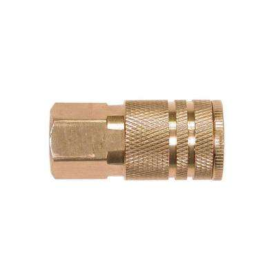 1/4 in. Industrial 6-Ball Brass Coupler with 1/4 in. Female NPT