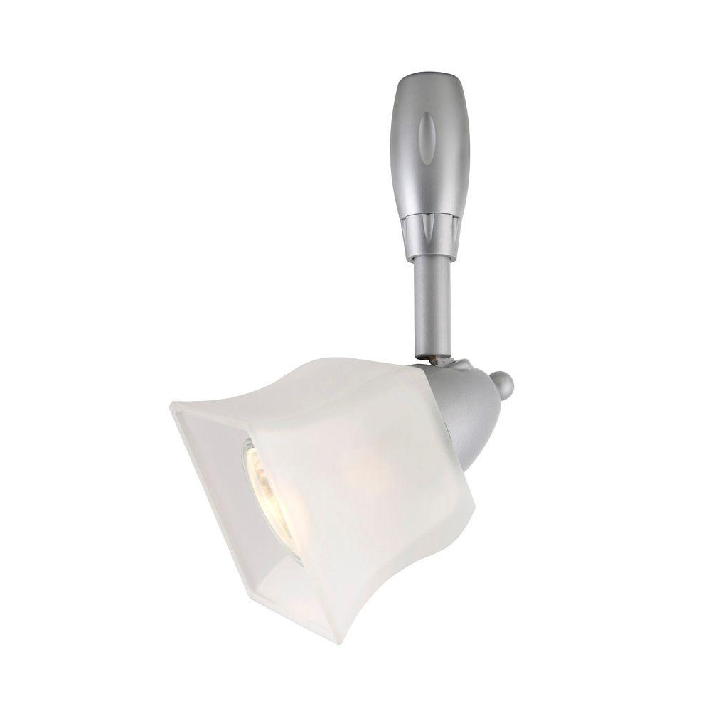 Custom Flexible Track Lighting: Hampton Bay Silver Flex Track Lighting Fixture With