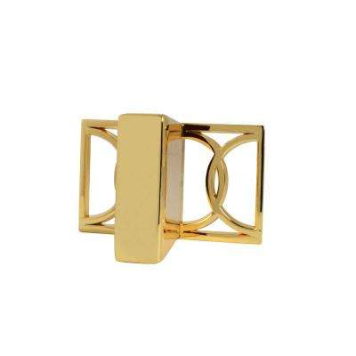 Symone 2-1/10 in. Polished Gold Cabinet Knob