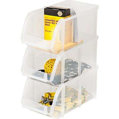 Stacking Storage Bin in Clear